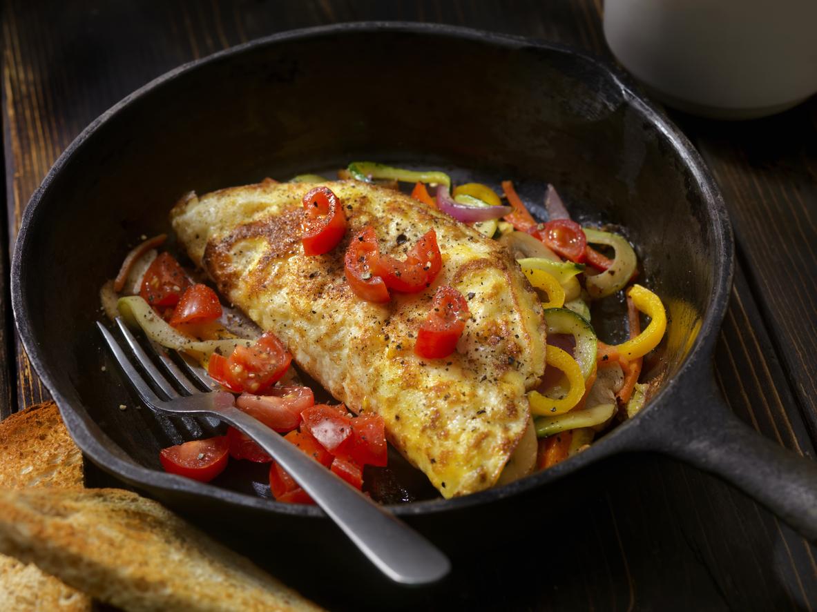 groente omelet ontbijt