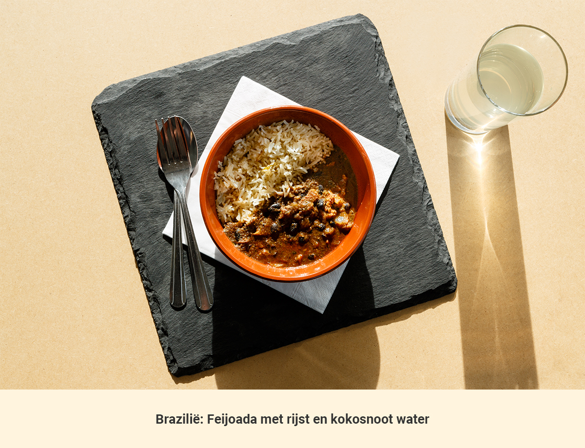 Eten in Brazilie lunch