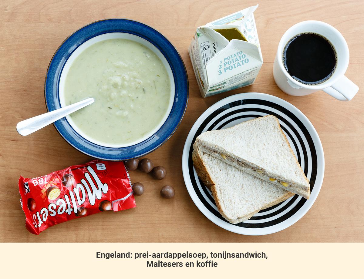Eten in Engeland lunch