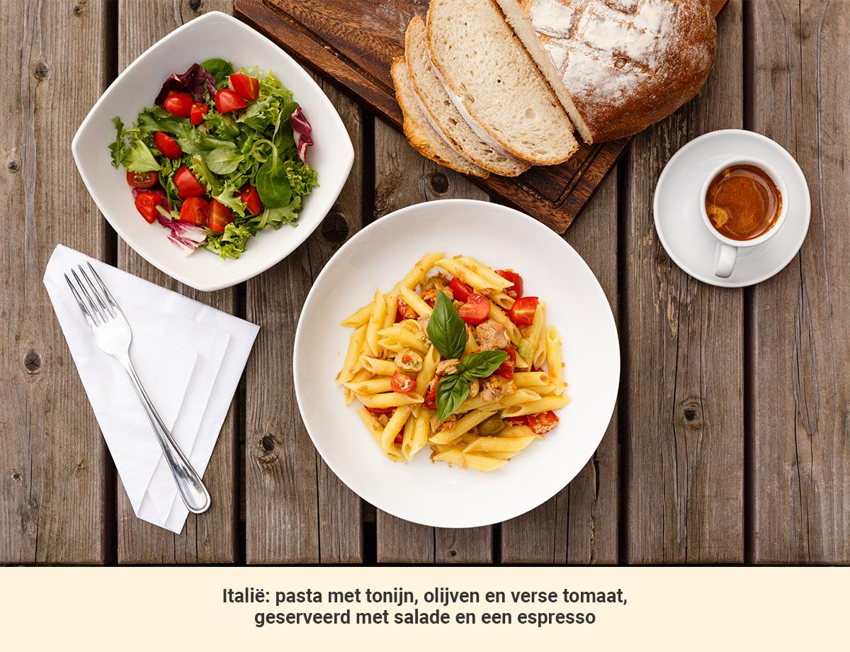 Eten in Italie lunch