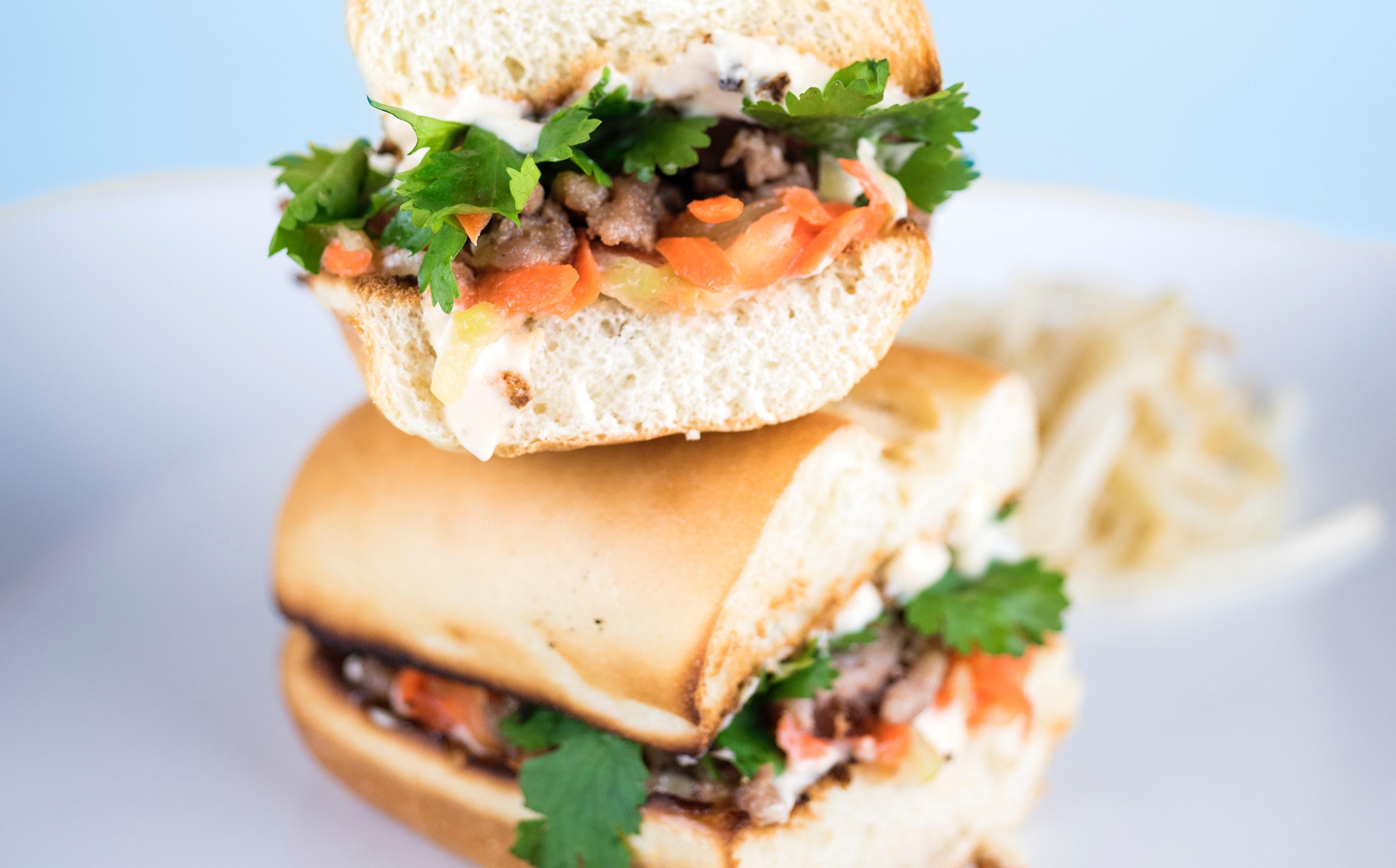 broodje met vegetarisch gehakt