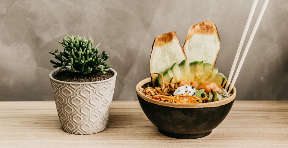 vegetarische poke bowl
