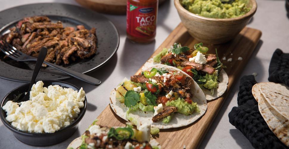 taco's met gegrilde entrecote