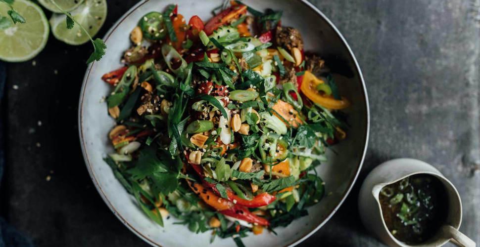 knapperige Thaise salade