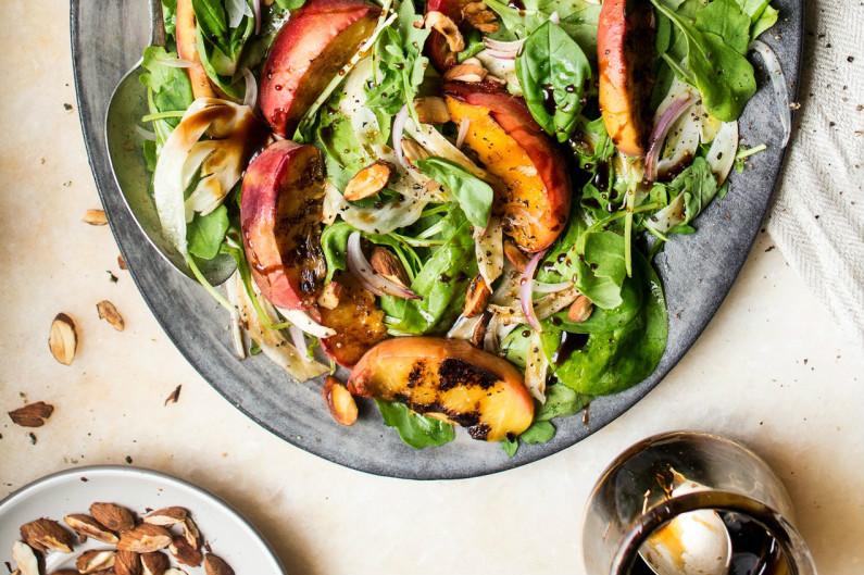 perzik salade