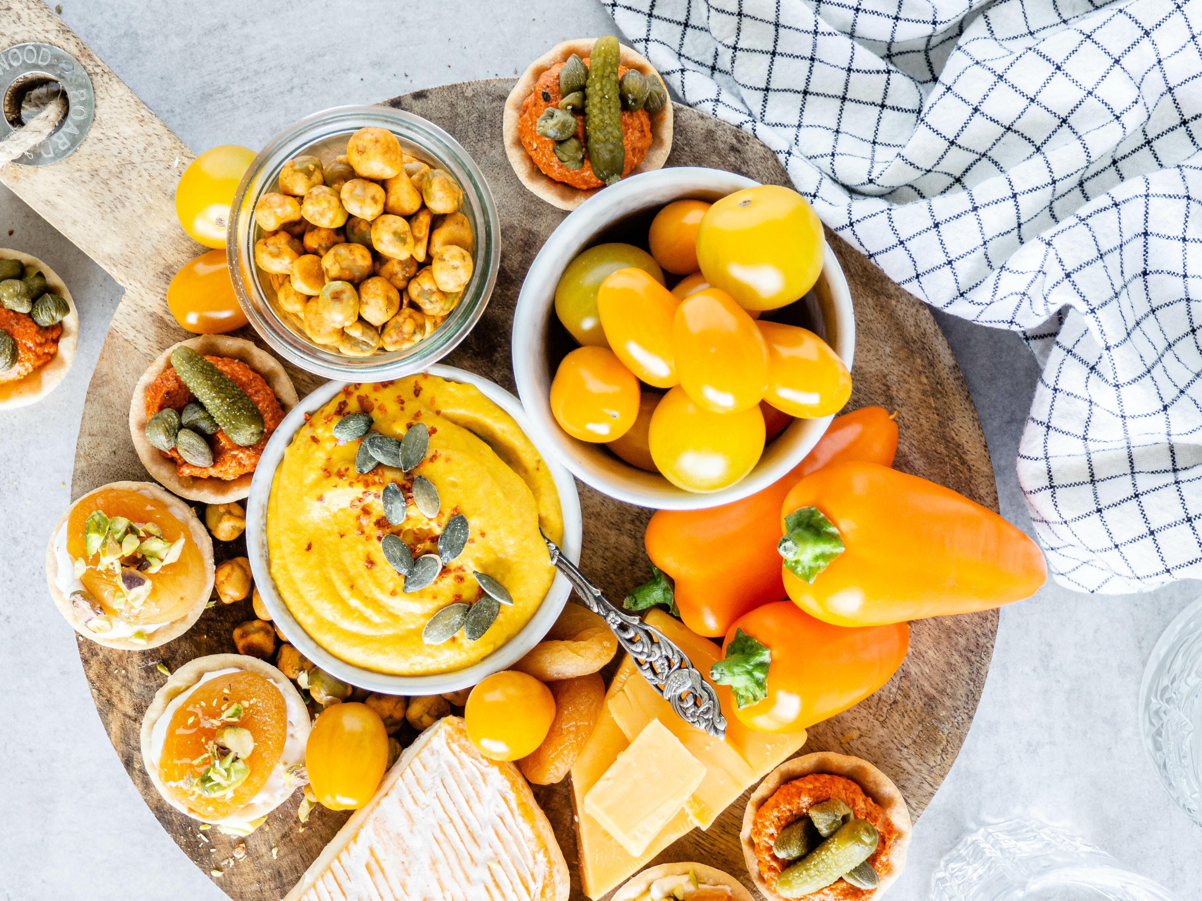 oranje borrelplank voor koningsdag