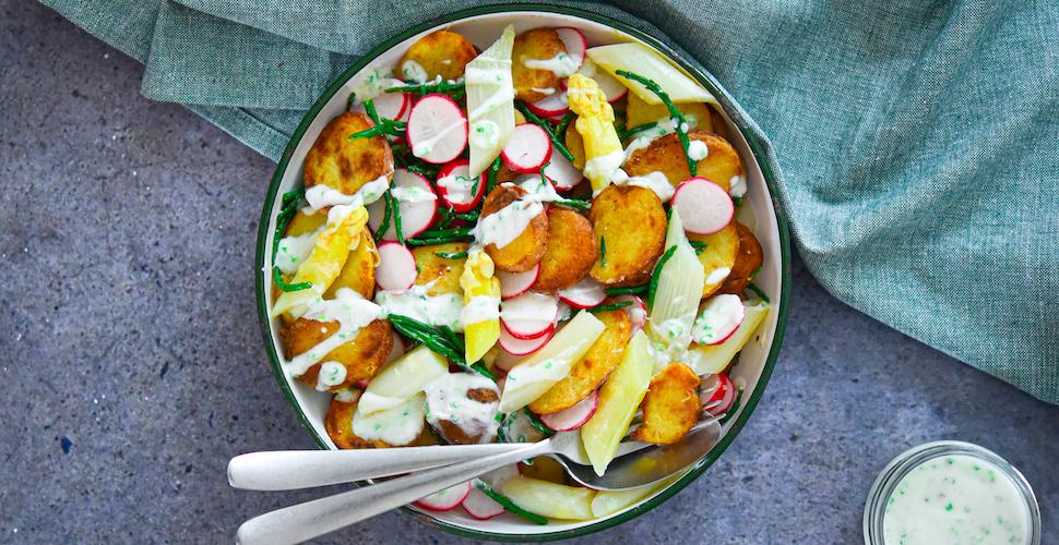 salade met asperges en krieltjes