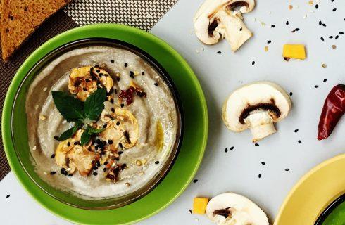 Romige bloemkool soep met champignons!