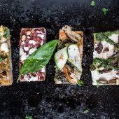 Overheerlijke vegan pizza bites om uit te delen