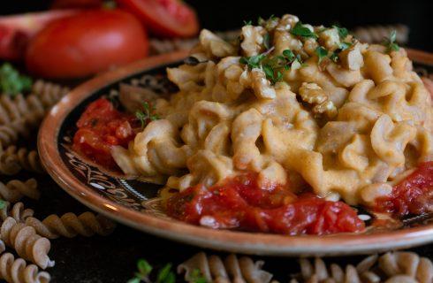 Vegan stroganoff met champignons, perfect voor in de winter!