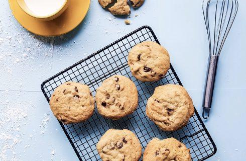 Chocolate chip cookies gemaakt op glutenvrije wijze