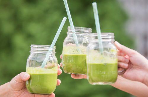 Gezonde groene smoothie, simpel te maken