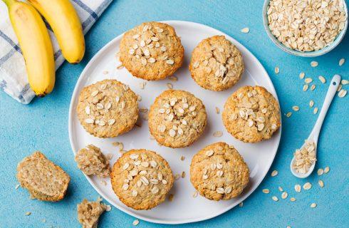 Vegan ontbijt: muffins van zoete aardappel en banaan