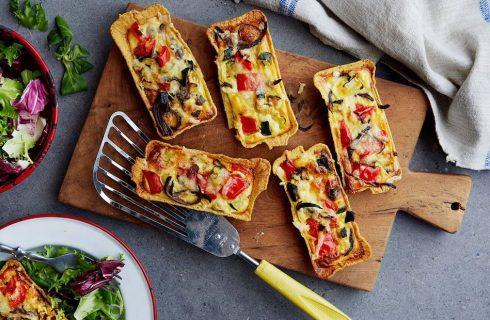 Vegetarische mini taco taartjes