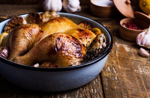 Recept: malse kip uit de oven met tijm en oregano