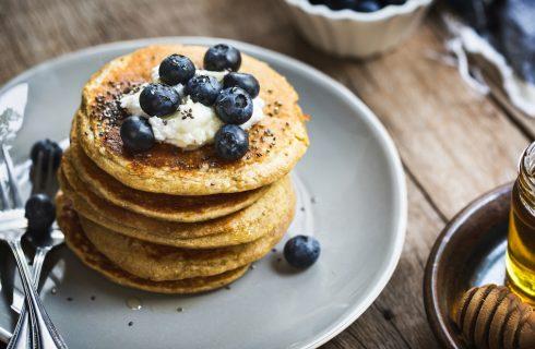 Vegan pannenkoeken met blauwe bessen (lactose- en glutenvrij)