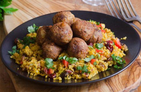 Couscous met falafel en feta (Vegetarisch)