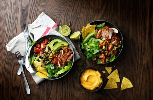 Kipsalade Taco Style met Mexicaanse groente