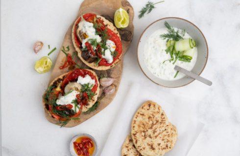 Recept: Geroosterde groenten met Coco Greek Style Tzatziki