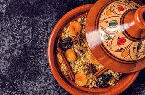 Recept: vegetarische tajine van kikkererwten en kastanjes