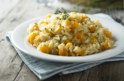 Recept: pompoenrisotto met Parmezaanse kaas