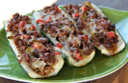 Heerlijke gevulde courgette bootjes met (vegetarisch) gehakt