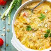 Recept: ovenschotel met zalm bom vol vitaminen