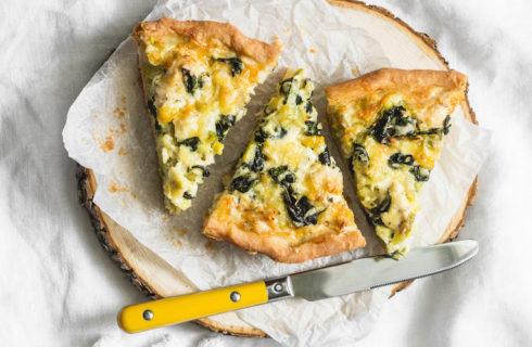 Recept: zoete aardappel quiche met feta en spinazie