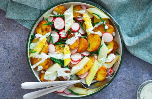 Recept: witte aspergesalade met krieltjes