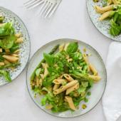 Recept: pasta met broccoli en saus van groene groenten