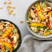Recept: Vietnamese salade met pulled chicken