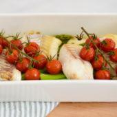 Recept: kabeljauw met geroosterde groenten
