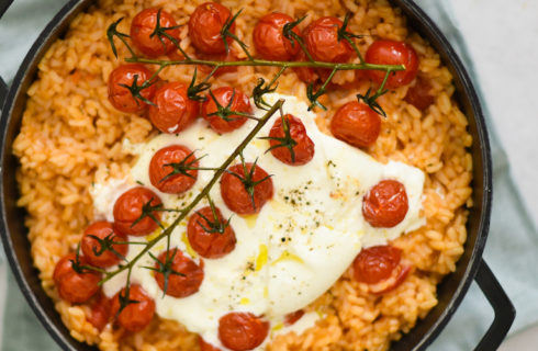 Recept: tomatenrisotto met burrata