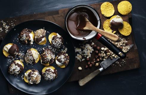 Recept: nacho's met ijs en chocolade