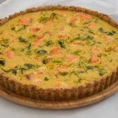 Recept: heerlijke quiche met zalm en spinazie