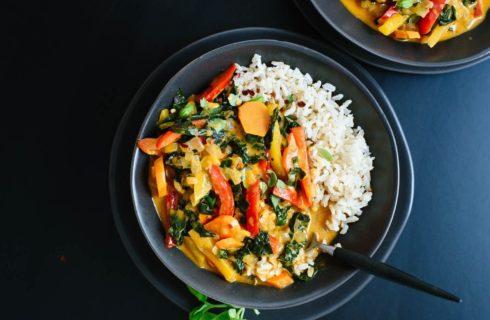 Recept: Thaise rode curry met lekker veel groente