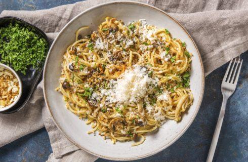 Recept: vegetarische spaghetti carbonara