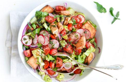 Lunchrecept: Fattoush (een heerlijke en gezonde salade)
