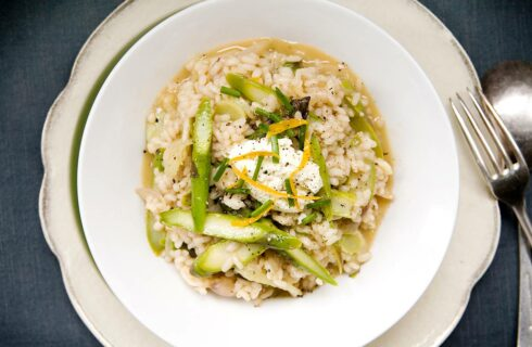 Recept: venkel risotto met ricotta en groene asperges