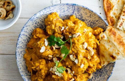 Recept: overheerlijke curry met bloemkool en cashewnoten