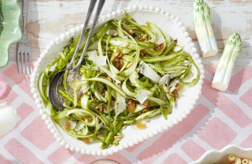 Lenterecept: snelle frisse salade met asperges
