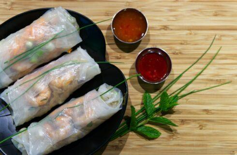 Recept: Vietnamese summer rolls met garnalen