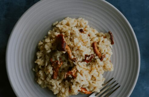 Recept: smeuïge truffelrisotto met paddenstoelen