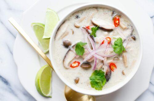 Recept: Thaise kokossoep met oesterzwammen