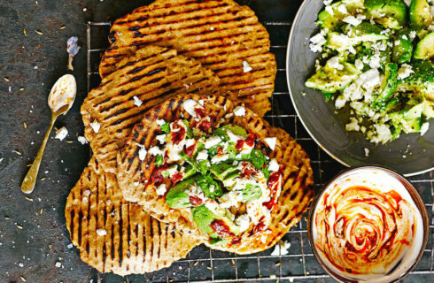 Recept: flatbread met avocado en feta
