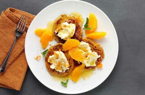 Recept: carot cake pancakes met mascarpone en sinaasappel