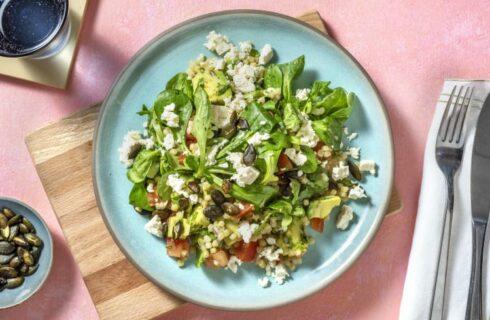 Recept: parelcouscous salade met feta en avocado