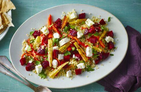 Recept: Bulgur salade met bietjes, honing en geitenkaas