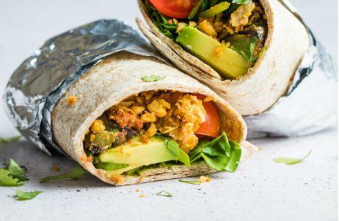 Vegetarische Mexicaanse (ontbijt) burrito's!