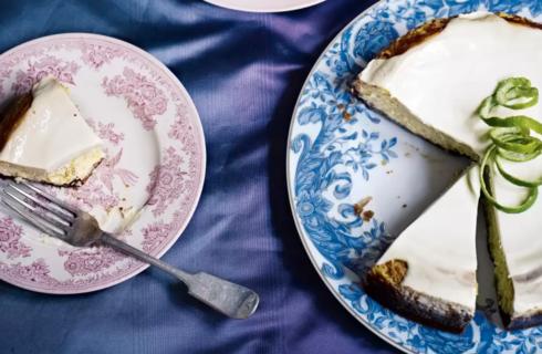 Recept: vlierbloesem limoen cheesecake